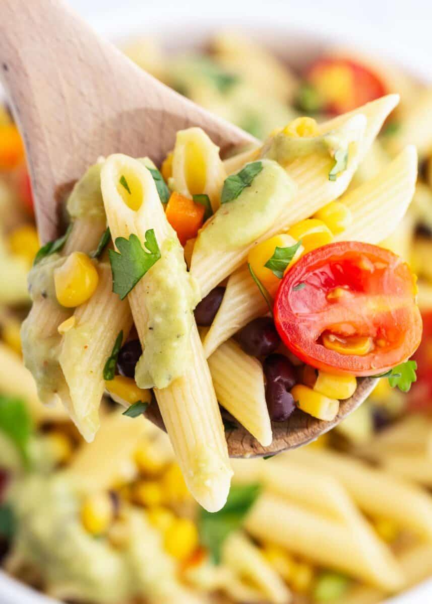 spoonful of southwest pasta salad