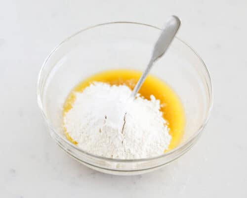 butter and flour in bowl
