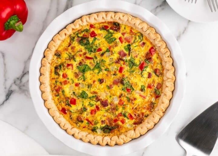 breakfast pie in pie dish