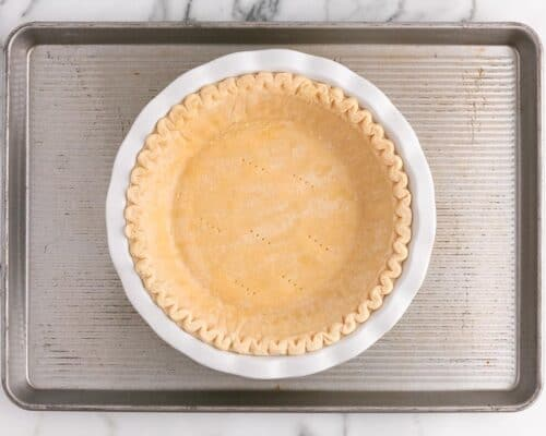 pie crust on pan