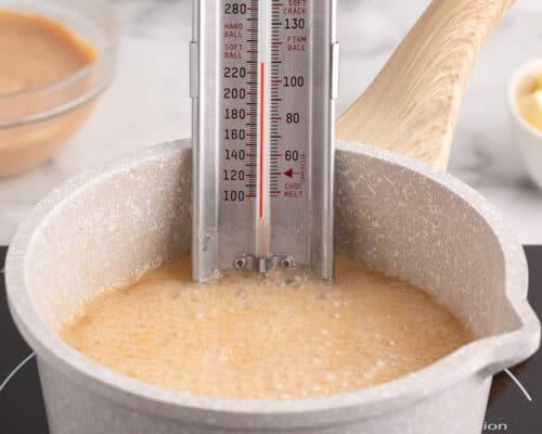 boiling cider in pot