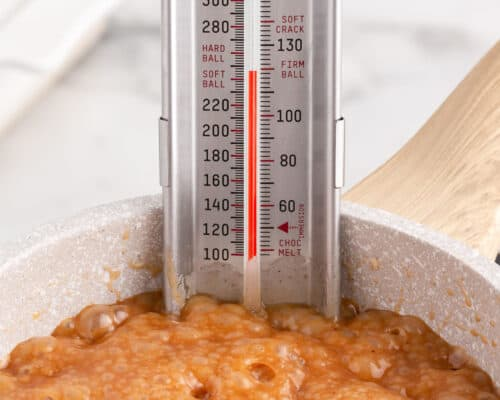cooking caramel in pot