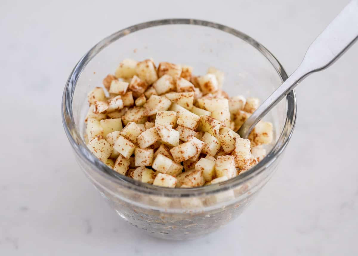 cinnamon apples in bowl