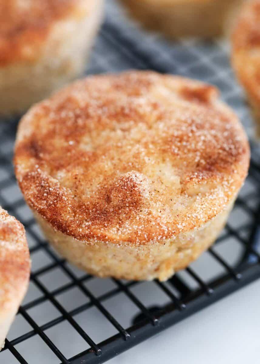 apple cinnamon muffins on cooling rack