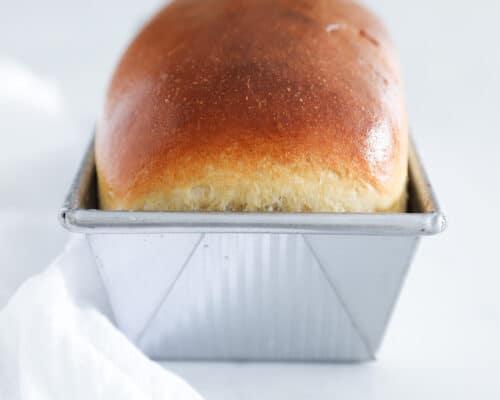 bread loaf in pan