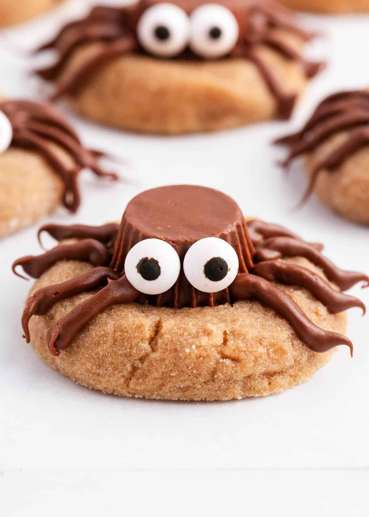 spider cookie on parchment paper