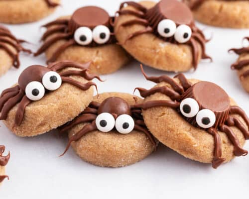 spider cookies on counter