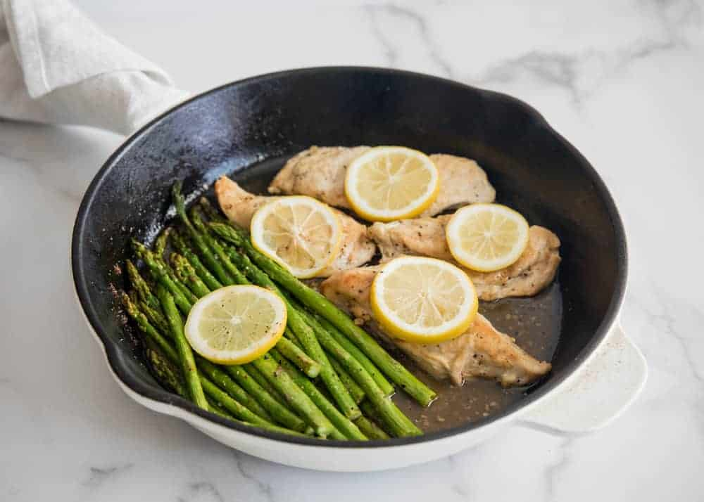 lemon chicken in skillet