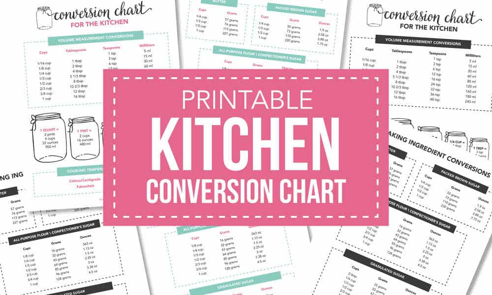 picture about Kitchen Conversion Chart Printable called Absolutely free Printable Kitchen area Conversion Chart - I Centre Naptime