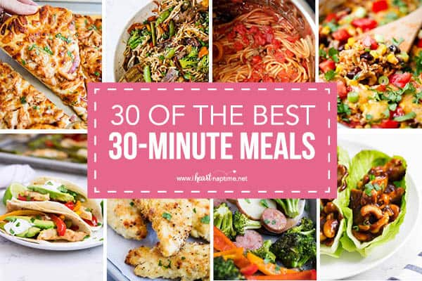 collage of 30-minute meals